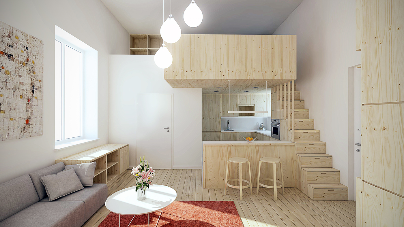 Designing for super small spaces 5 micro apartments Small loft apartment design