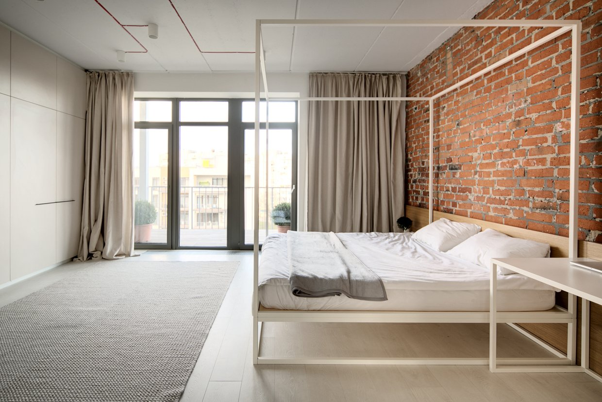 A modern home with personality of perfect for a fun couple for Modern minimalist bed