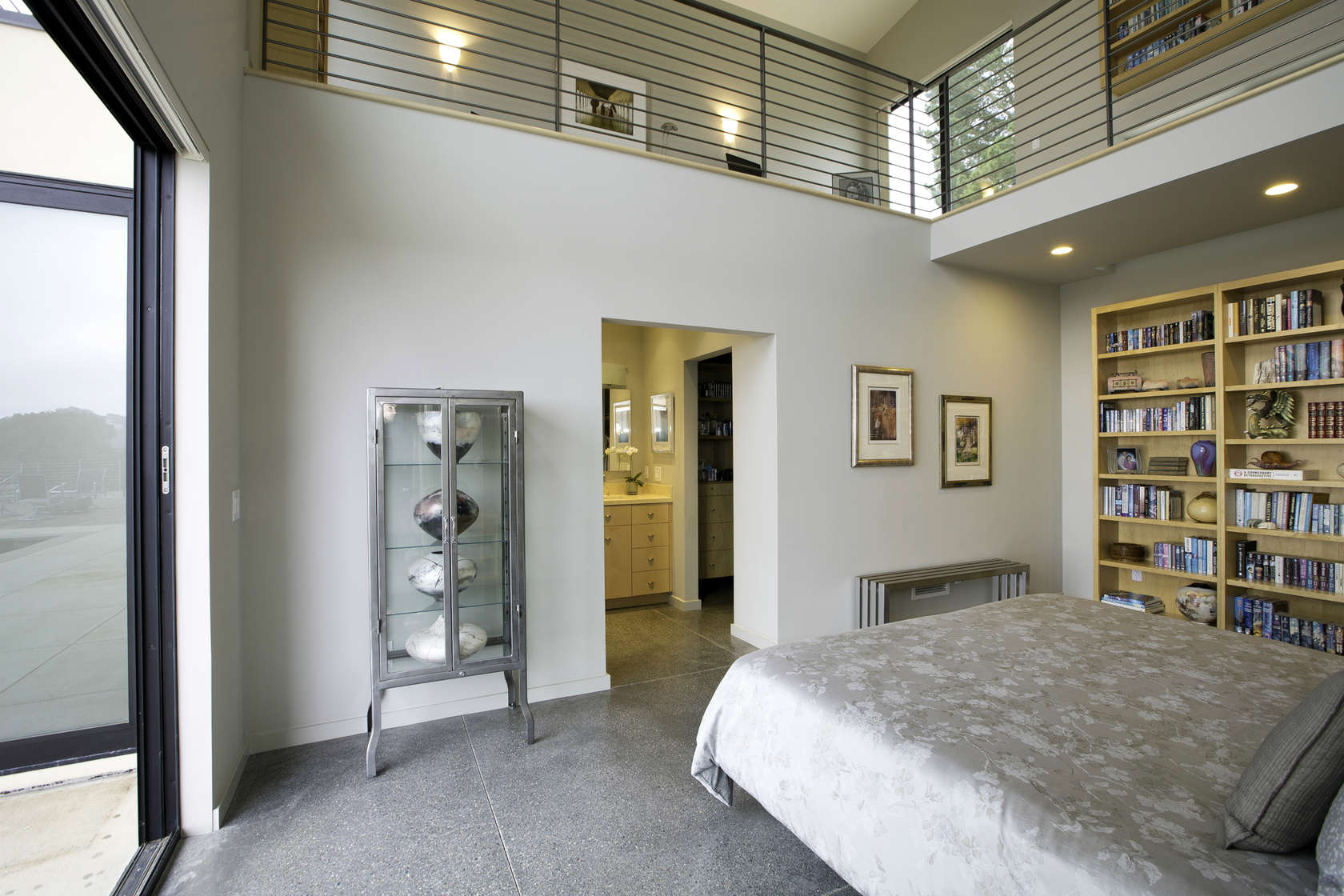 Modern Bedroom Design - Custom home in sonoma gives a modern twist to wine country