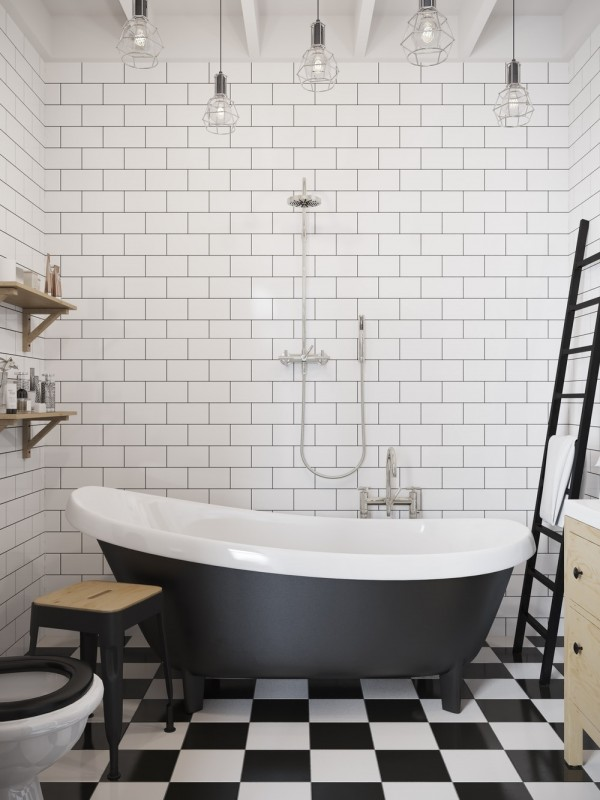 These lofts are up in the clouds with their white designs for Modern claw foot tub