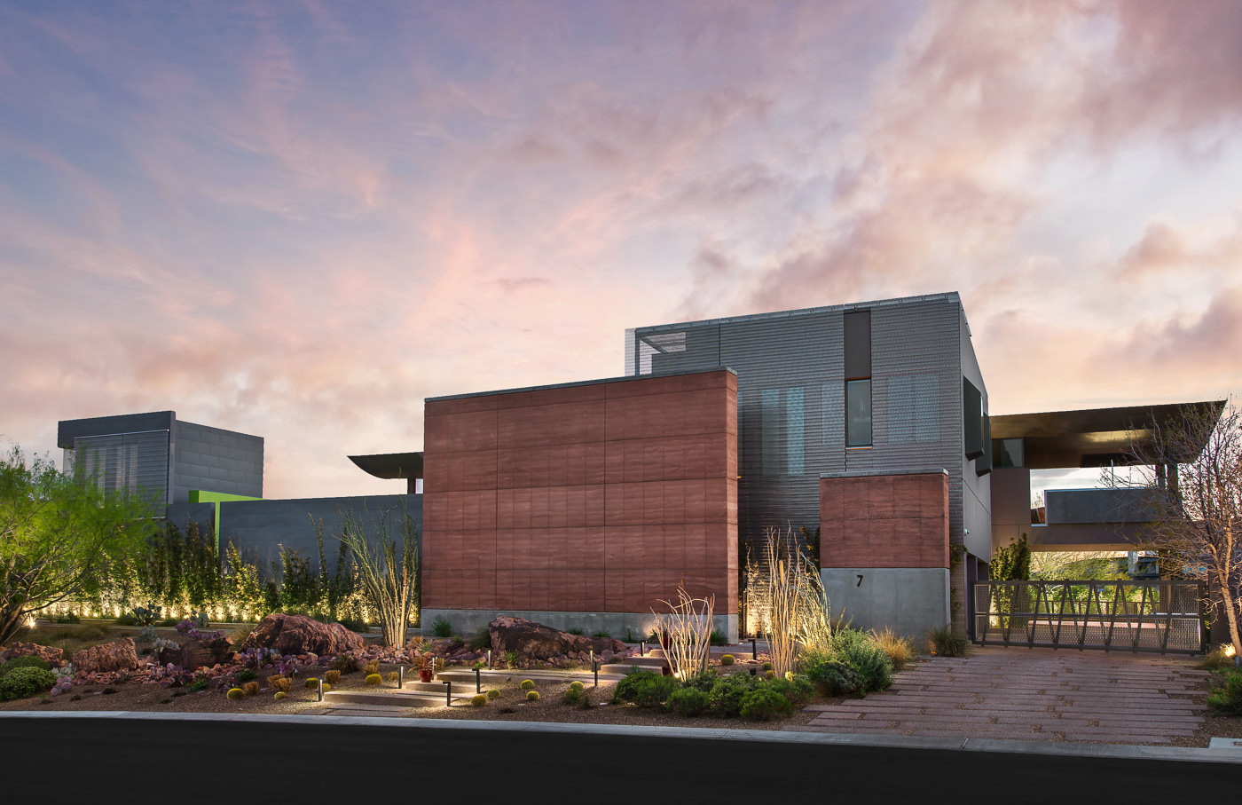 This desert oasis is a step above the standard vegas hotel for Modernized exteriors