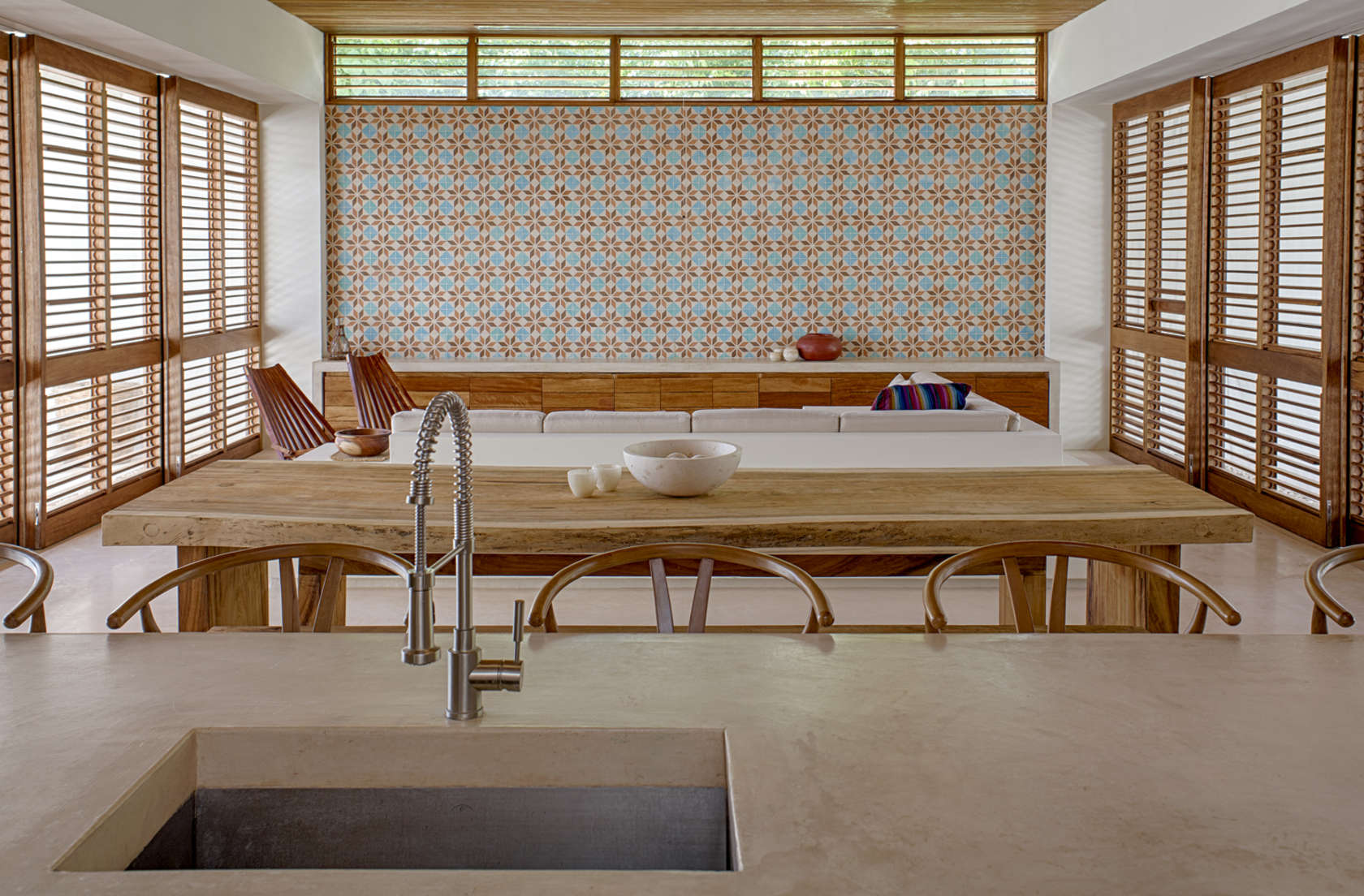 Moroccan Tile - Eco friendly house in mexico does not sacrifice style