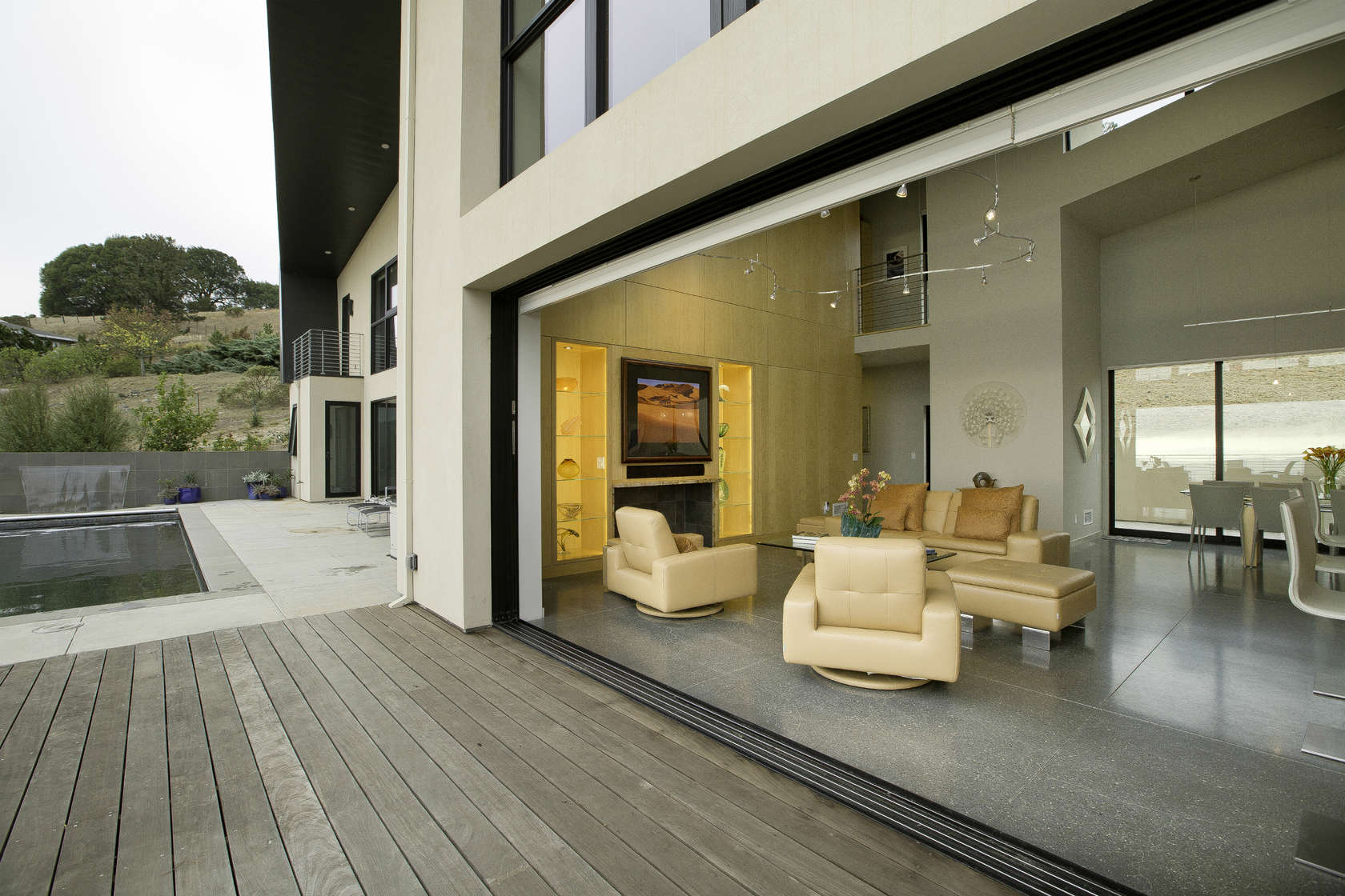 Open Patio - Custom home in sonoma gives a modern twist to wine country