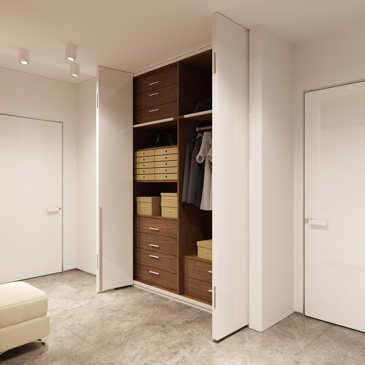 Organized Closet - 3 examples of modern simplicity