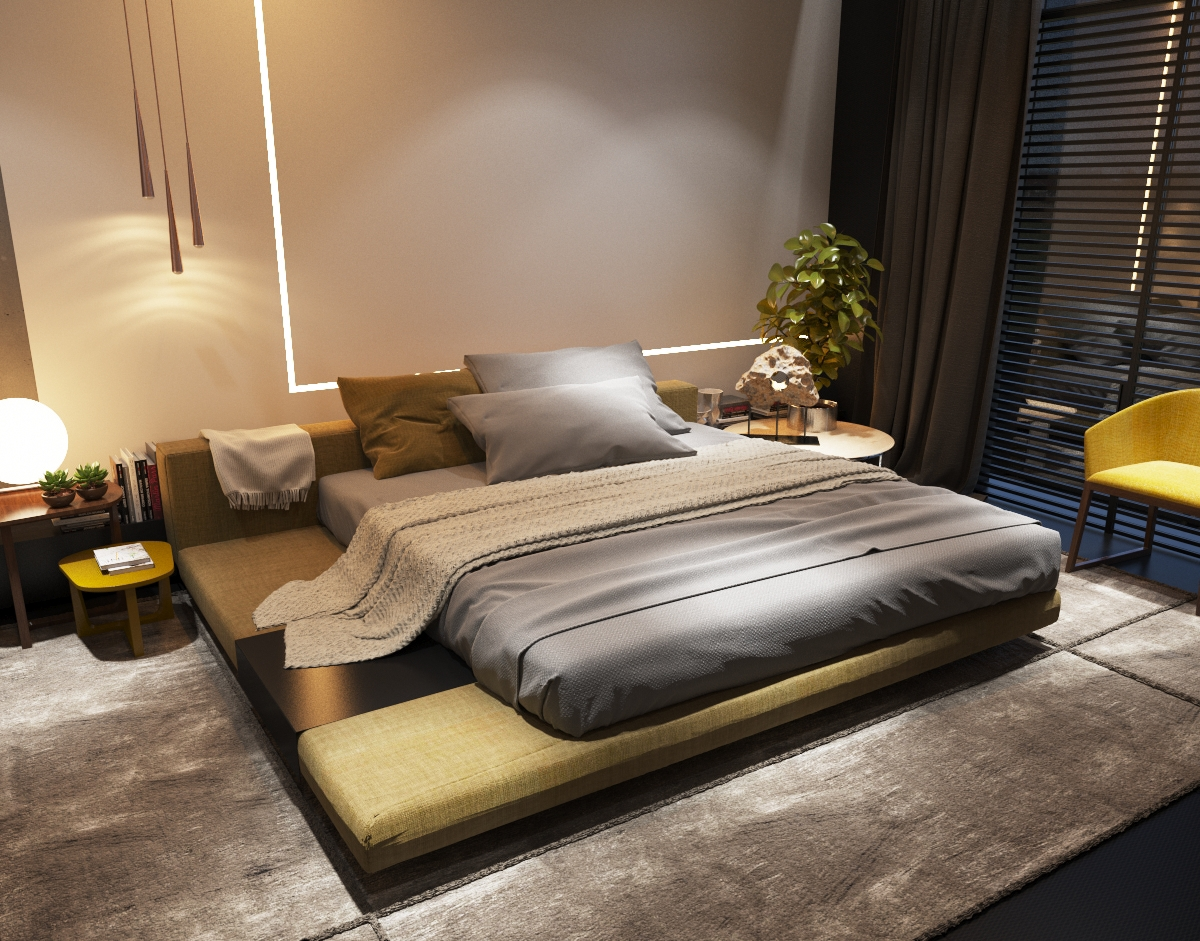 Platform Bed - 3 examples of modern simplicity