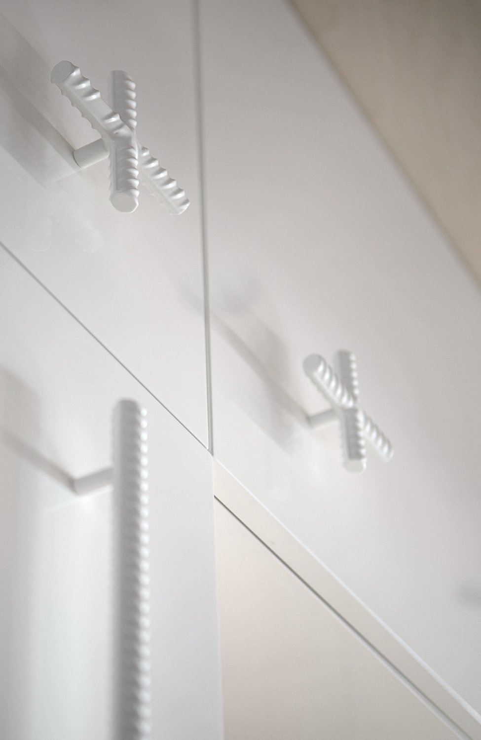 Rebar Drawer Pulls - A modern home with personality of perfect for a fun couple