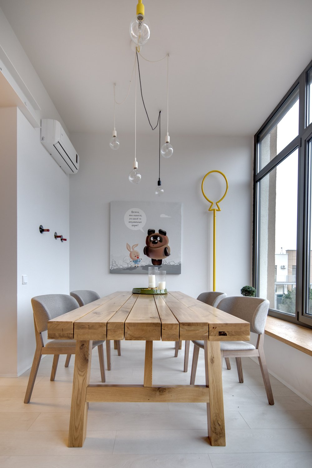 Reclaimed Wood Dining Table - A modern home with personality of perfect for a fun couple
