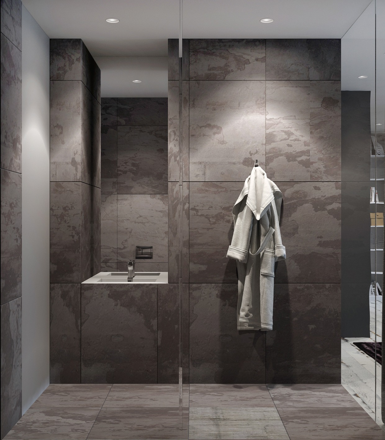 Slate Tiles - 4 homes from the same designer showcase a diversity of style