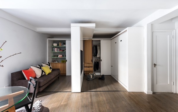 Sliding walls a transformer apartment that does more with less sliding walls