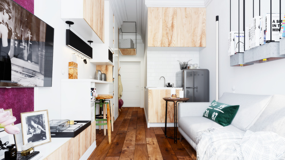 Designing for super small spaces 5 micro apartments for Small apartment chairs