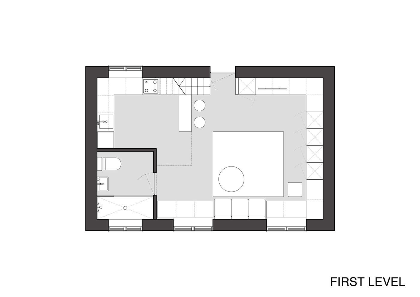 Designing for super small spaces 5 micro apartments for Micro loft floor plans