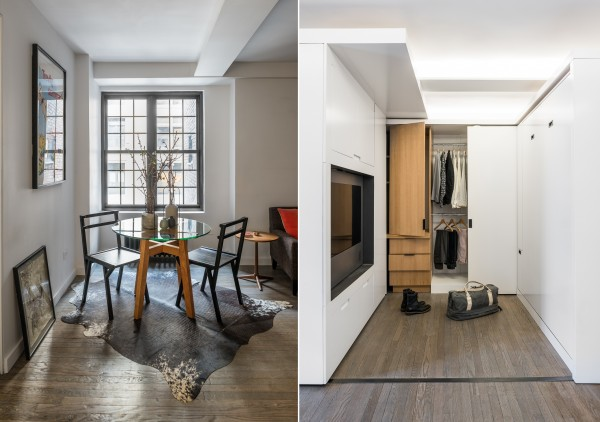 Small modern dining rooms a transformer apartment that does more with less small