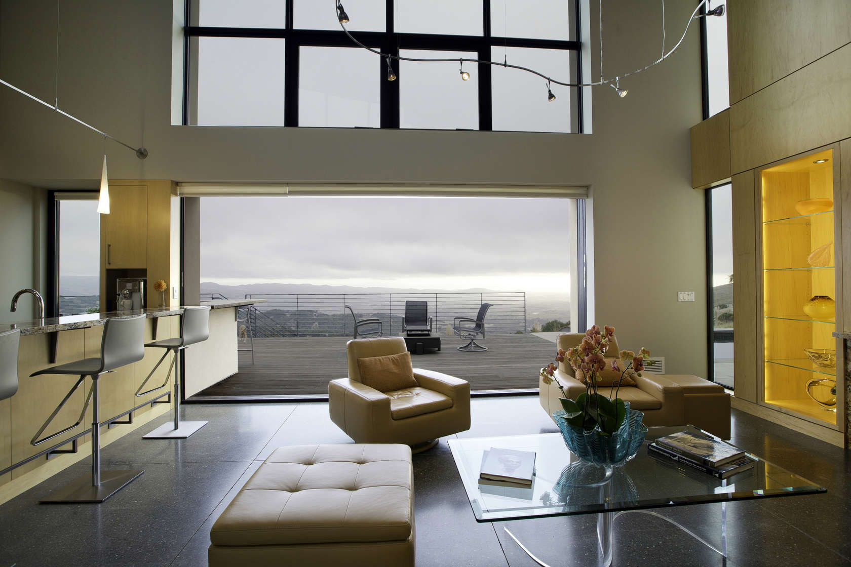 Soft Leather Furniture - Custom home in sonoma gives a modern twist to wine country