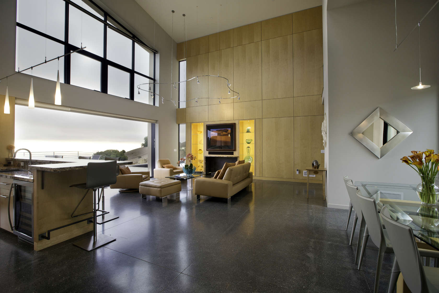 Sophisticated Wood Paneling - Custom home in sonoma gives a modern twist to wine country