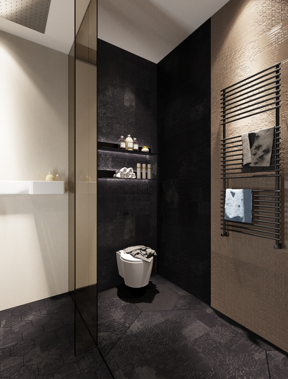 Stone Tile Bathroom - 3 examples of modern simplicity