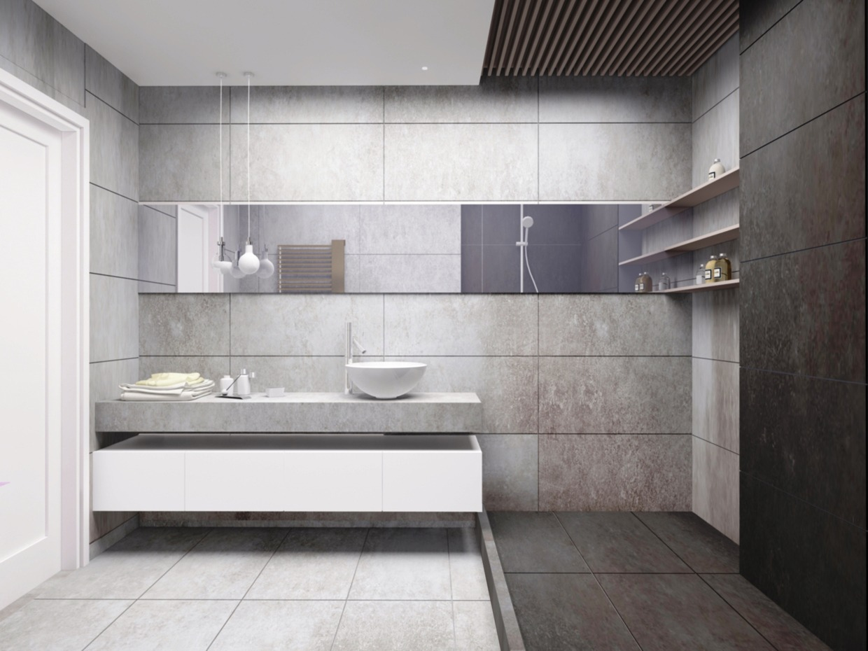 Tiled Bathroom - 4 homes from the same designer showcase a diversity of style