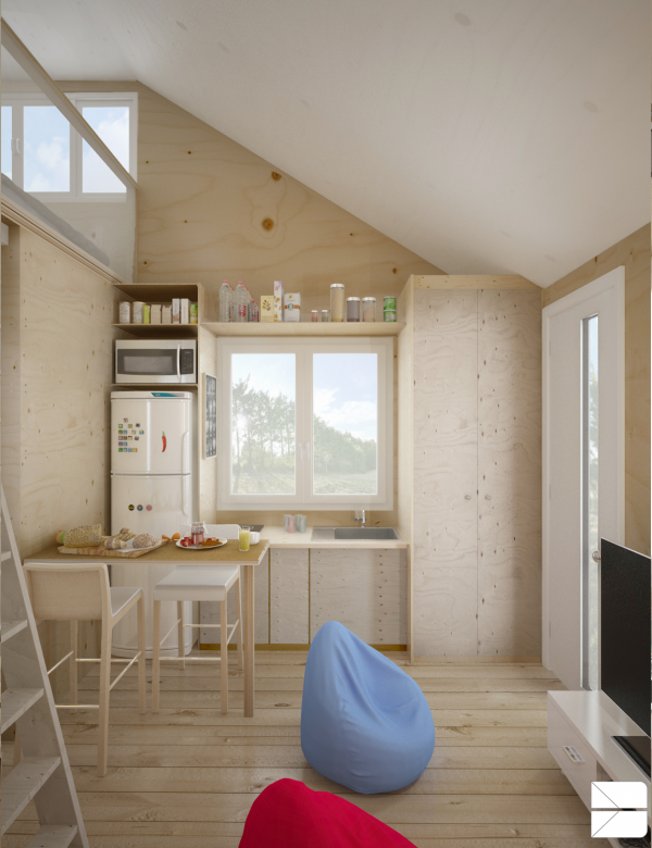 Designing for super small spaces 5 micro apartments for Small studio apartment space