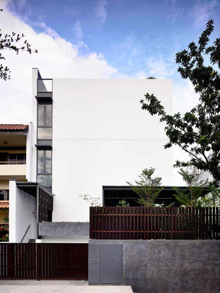 Ultra Modern Exterior - Open tropical home with interior courtyard and wood features
