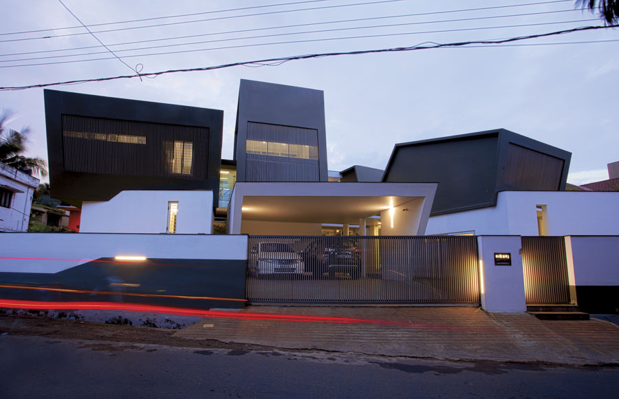 wild modern home exterior contains a clean modern interior