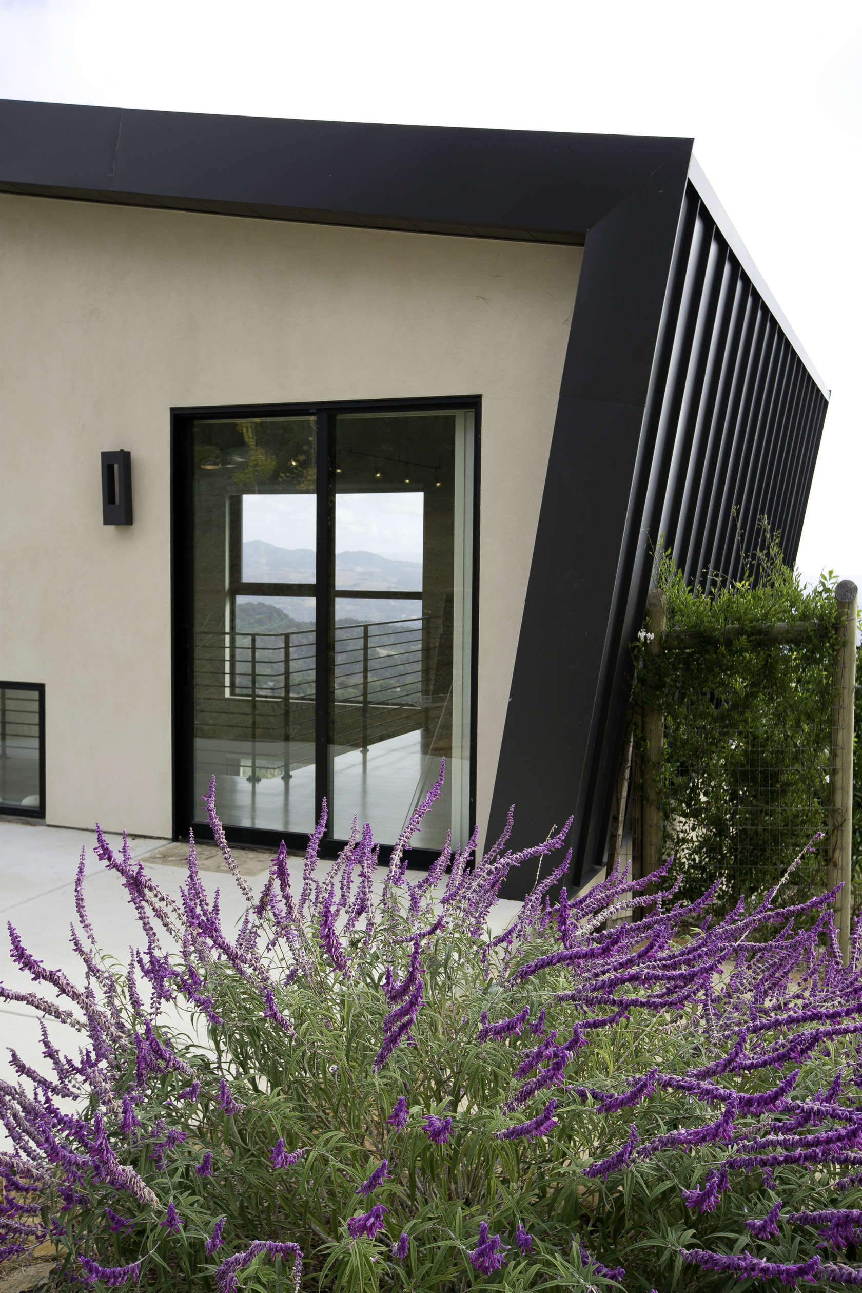 Unique Exterior - Custom home in sonoma gives a modern twist to wine country