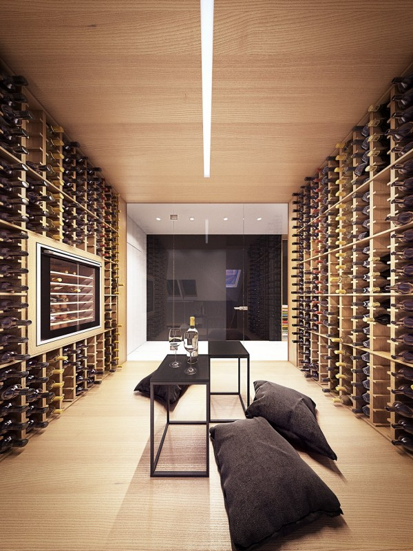 Luxury Wine Cellar : Lofted luxury