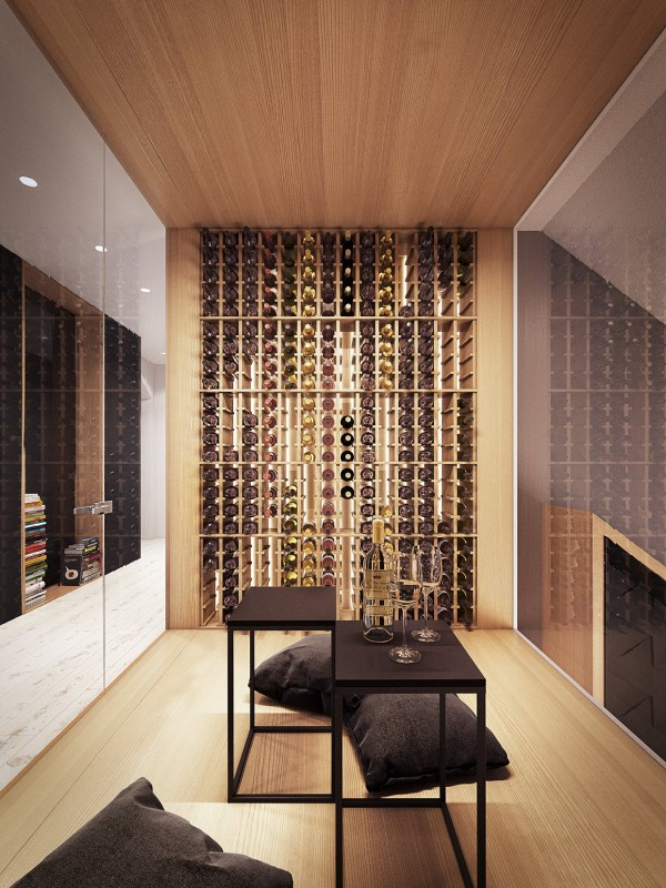 Lofted luxury for Home wine cellar designs