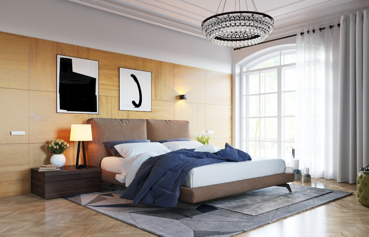 Wood Bedroom Paneling - 3 examples of modern simplicity