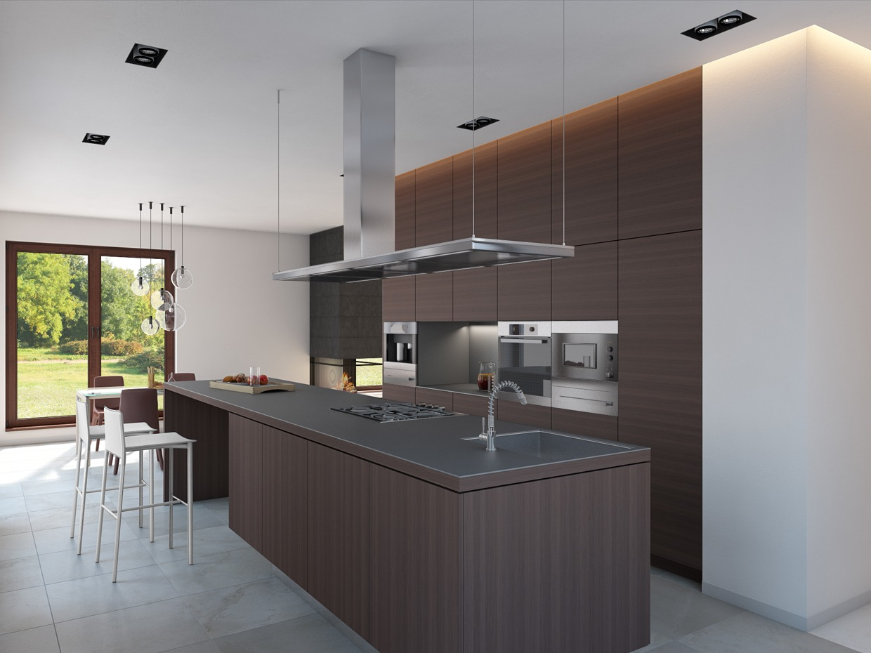 Wood Panel Kitchen - 4 homes from the same designer showcase a diversity of style