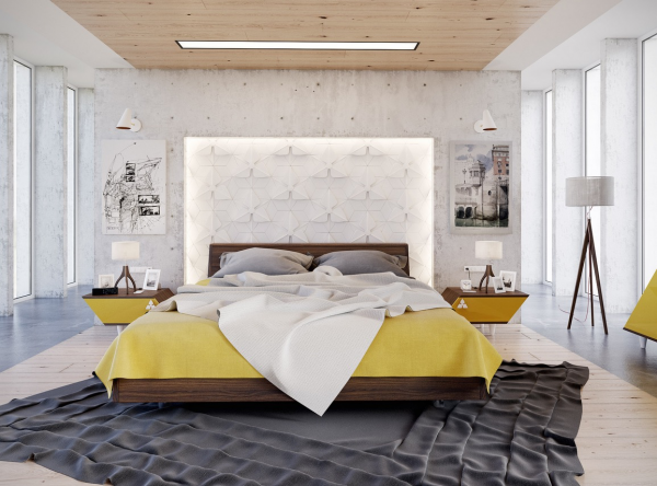 Yellow, white, and slate gray create a vibrant and cheerful backdrop for any dream.