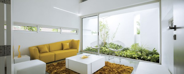 A Wild Modern Home Exterior Contains a Clean Modern Interior : yellow sofa 600x241 from www.home-designing.com size 600 x 241 jpeg 33kB