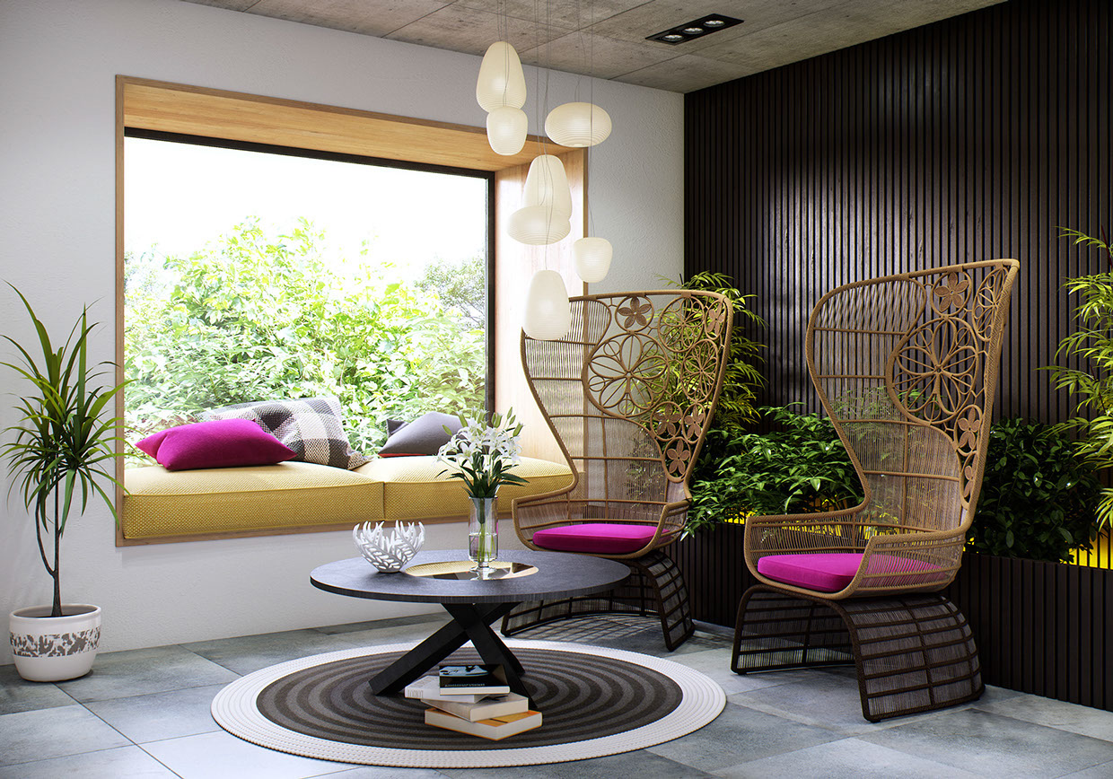 Amazing Wicker Chairs - 8 creatively designed bedrooms in detail