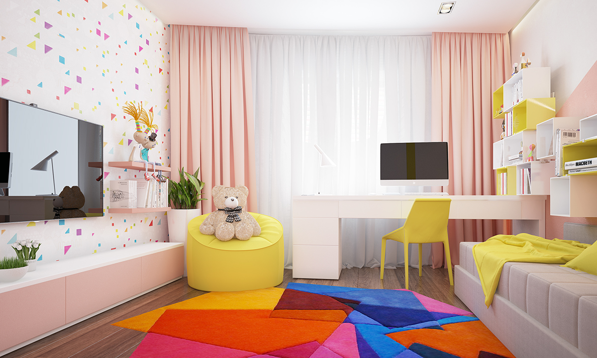 Awesome Area Rug - Two homes with colorful kids rooms included