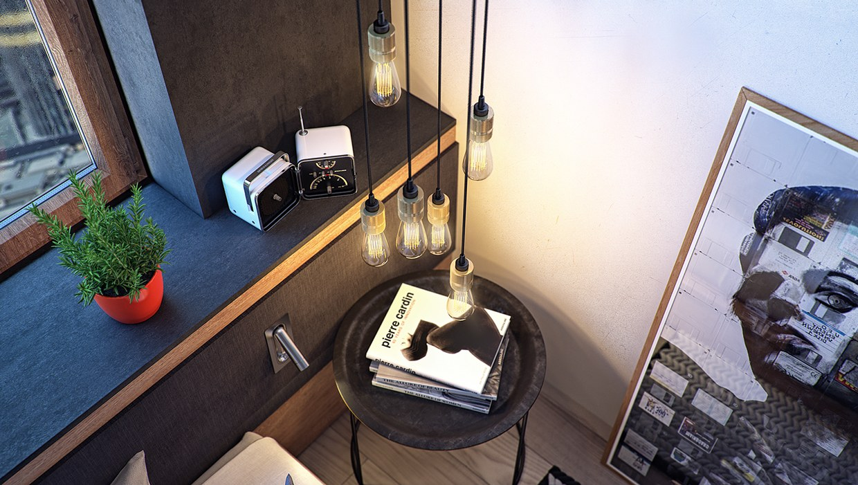 Bare Bulb Lighting Ideas - 8 creatively designed bedrooms in detail