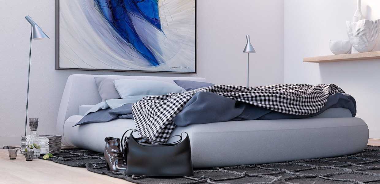 Blue Wall Art - 8 creatively designed bedrooms in detail