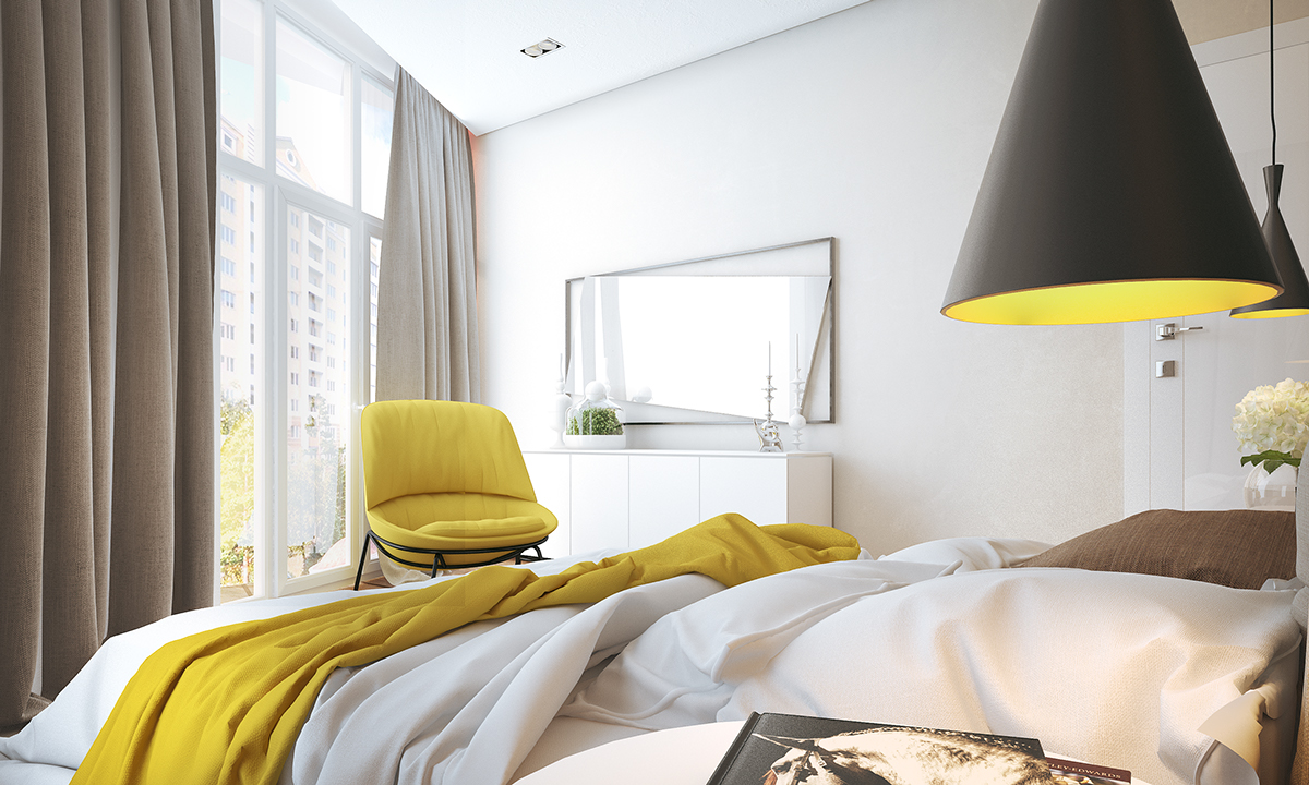Bright bedroom lighting interior design ideas for Bright yellow bedroom ideas