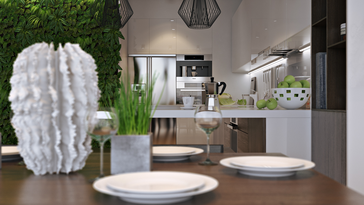 Centerpiece Grass - Verdant vertical gardens bring beauty indoors