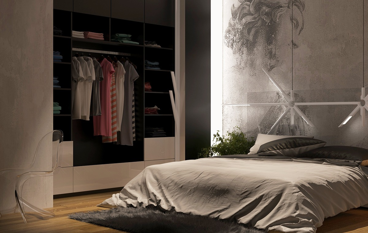 Closet Organization Ideas - 8 creatively designed bedrooms in detail