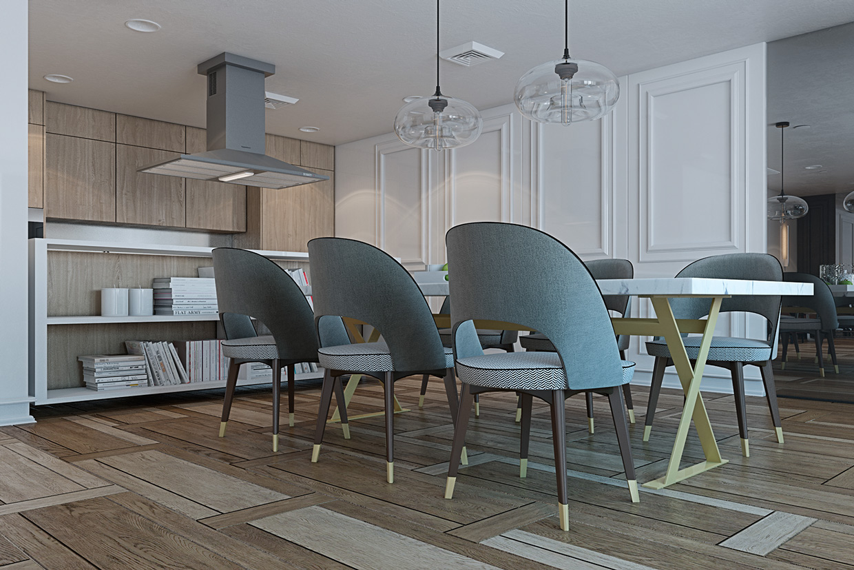 Cool Dining Chairs - A miami apartment in stormy muted tones