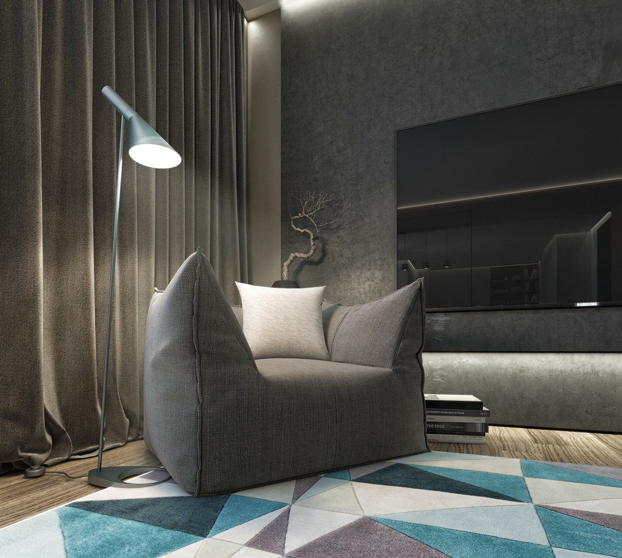 Cool Modern Armchair - Dark neutrals and clean lines unite six stylish homes