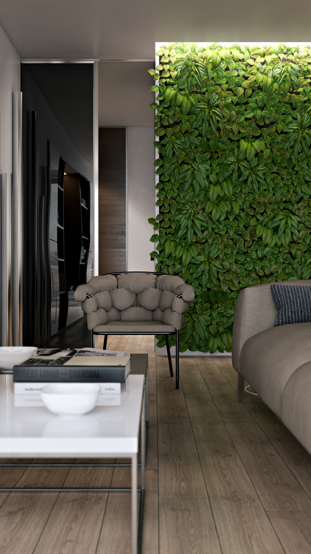 Cool Modern Chair - Verdant vertical gardens bring beauty indoors