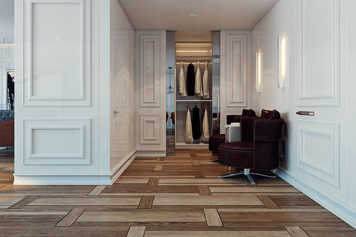 Creative Wood Flooring - A miami apartment in stormy muted tones