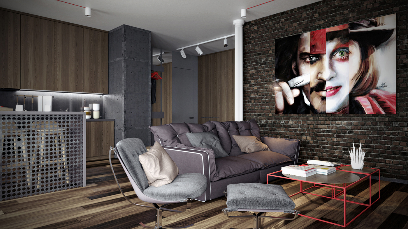 Exposed Brick - Dark neutrals and clean lines unite six stylish homes