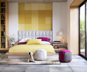 ... 8 Creatively Designed Bedrooms In Detail · Warm Modern Interior Design