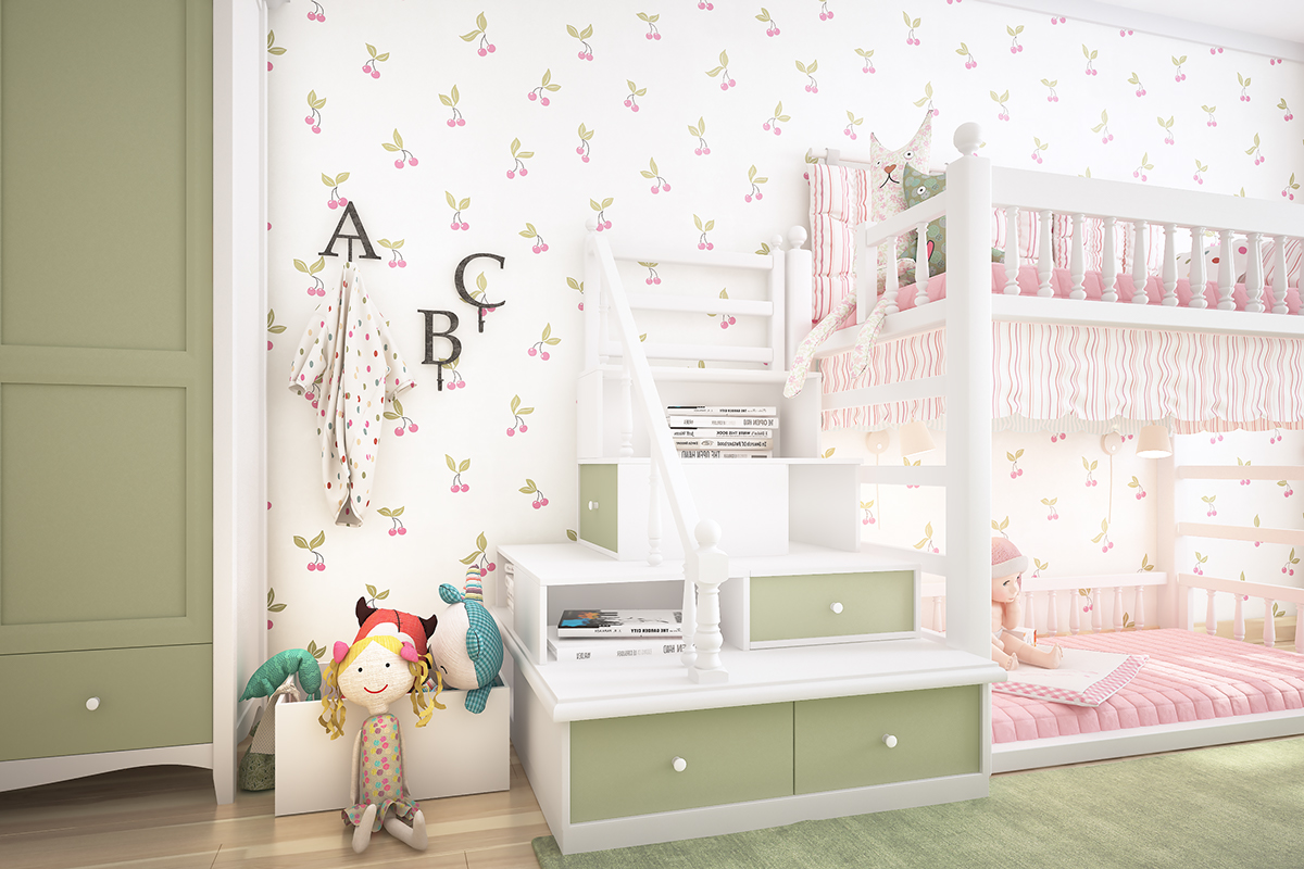 Girls Room Design - Two homes with colorful kids rooms included