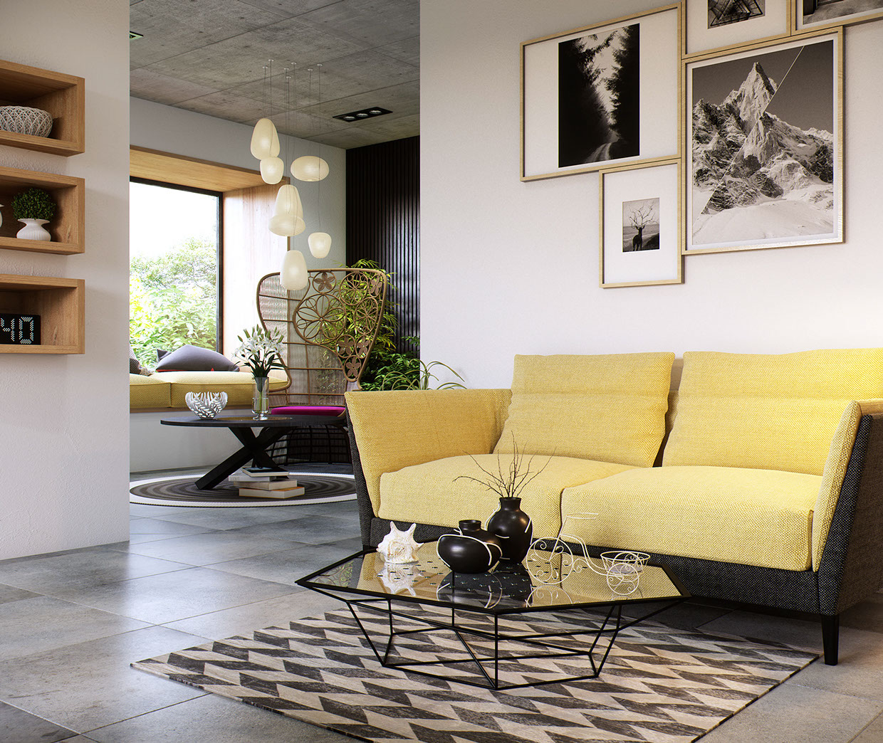 Glass Coffee Table - 8 creatively designed bedrooms in detail