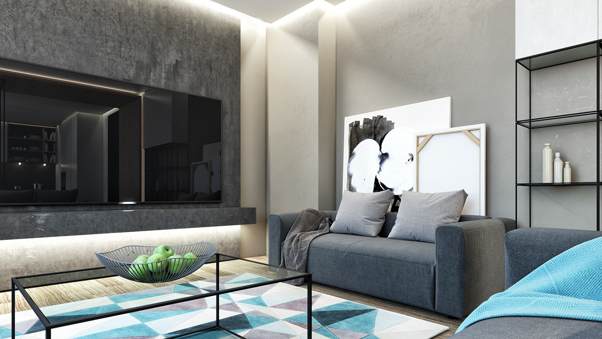 Gray And Teal - Dark neutrals and clean lines unite six stylish homes