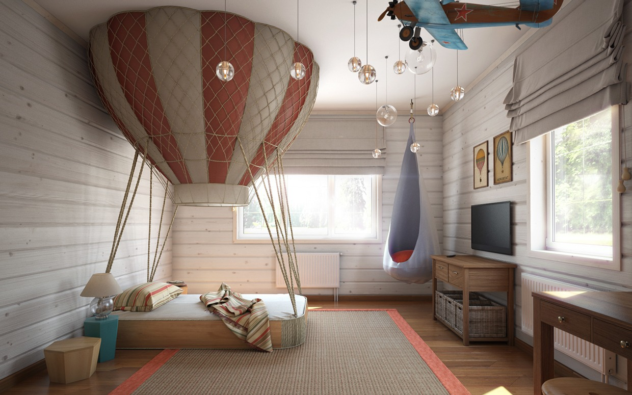 Hot air balloon bedroom interior design ideas for Interior theme ideas