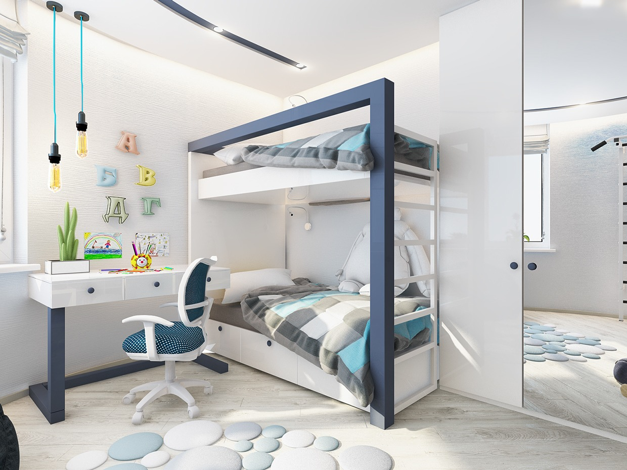Modern Bunk Bed Interior Design Ideas