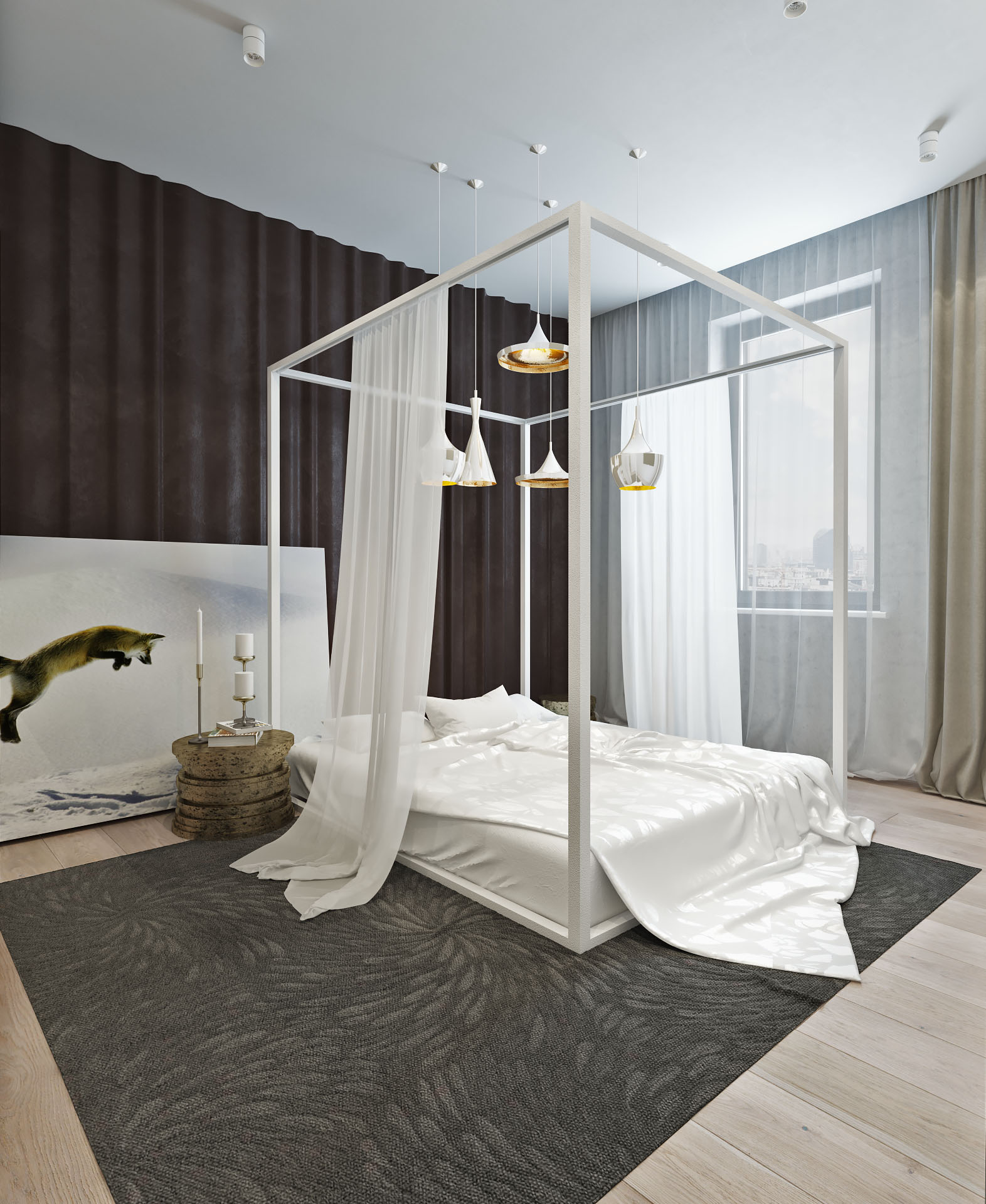 Modern canopy bed ideas - Like Architecture Interior Design Follow Us