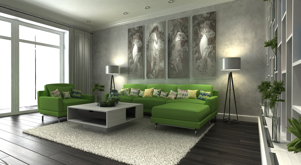 Modern Living Room - Dark neutrals and clean lines unite six stylish homes